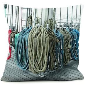 Coussin cordage couleurs
