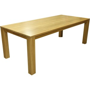 Table concept melbourne 15 avec 2 allonges 50 cm plateau massif