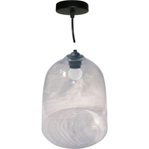 Suspension 1 lampe abat jour verre grand modele